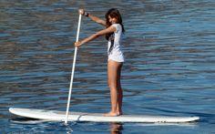 El río Palmones acoge una actividad de paddel surf