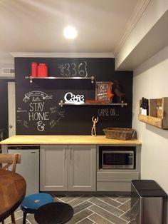 Basement kitchenette, when we remove the full kitchen. Mini fridge!, sink!, microwave?