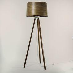 Handmade wooden floor lamp HELIX by Tom Raffield | design Tom Raffield