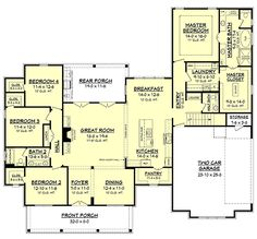 plan 52269wm expanded farmhouse plan with 3 or 4 beds modern farmhouse design farmhouse plans and farmhouse design