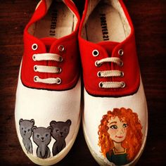 Disney/Pixar's Brave Merida hand painted shoes $40