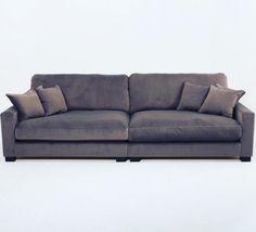Grå Valen sammetssoffa. Sammet, soffa, djup soffa, låg soffa, sammetsmöbler, sammetstyg, vardagsrum. http://sweef.se/sweef-lyx/220-valen-sammet-flera-storlekar.html