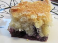 Yummy recipe for blueberry crumb cake we made yesterday.  http://my-plate.blogspot.com/2010/01/crummy-vs-crumby.html