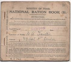 A ration book. Interesting History, Interesting Facts, Lincoln Kennedy, Love Comes Softly, Creepy History, Old Cards, Mystery Of History, Downton Abbey, World War I