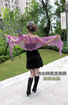 Charming lace shawl for women, free crochet patterns