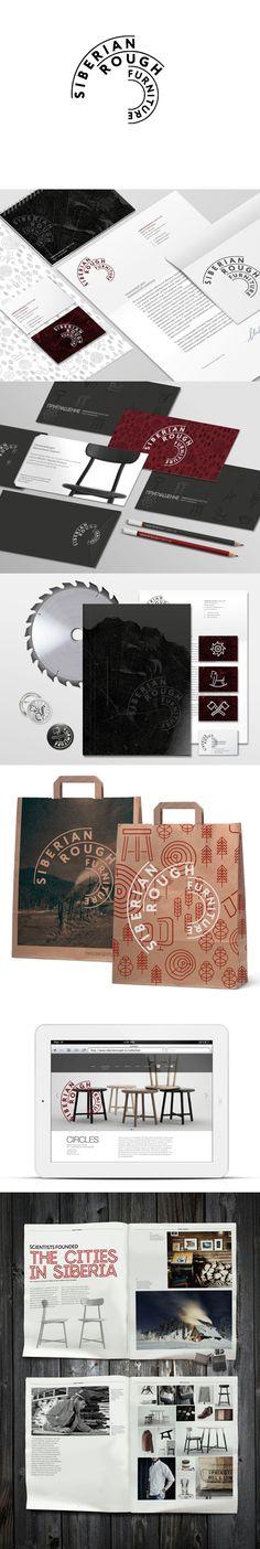 Siberian Rough Furniture #identity #packaging #branding PD
