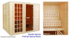 Spruce Sauna Room PreFab Kit