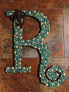 Large decorated letter by grammieself on Etsy, $65.00