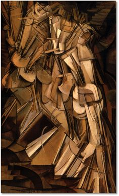 """If the future did not exist now, how could we journey toward it? If the past does not exist still, how could we leave it behind us?""  (Gene Wolfe - The Claw of the Conciliator)  [Image: Marcel Duchamp, ""Nude Descending Staircase, No. 2""]"