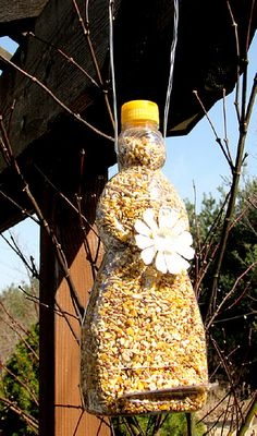 mrs. buttersworth birdfeeder