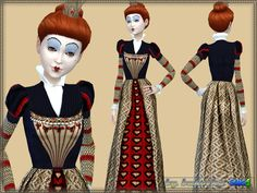 Sims 4 CC's - The Best: Set Red Queen by Bukovka