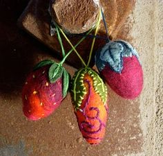 DIY felted ornaments
