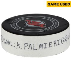 Kyle Palmieri New Jersey Devils Fanatics Authentic Game-Used Goal Puck from March 27, 2018 vs. Carolina Hurricanes - First Goal of Two Goals Scored