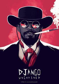 Django Unchained - movie poster - Flore Maquin