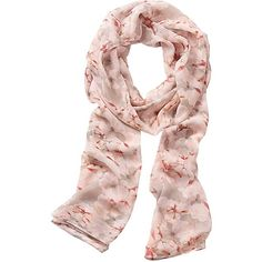 Vera Mont Long Floral Prnt Scarf (3.815 RUB) ❤ liked on Polyvore featuring accessories, scarves, long chiffon scarves, oblong scarves, chiffon scarves, chiffon shawl and floral print scarves