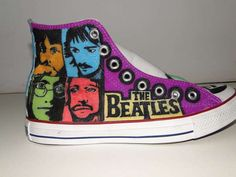 The Beatles Converse Customization by Christianne Jackson Rocks trendhunter.com