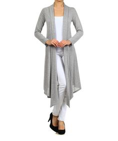 Another great find on #zulily! Heather Gray Open Duster #zulilyfinds