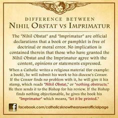 Nihil Obstat and Imprimatur