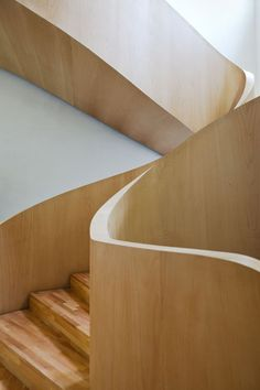 Stairs  Love the timber balustrade  (Not sure about the treads and risers though - imagine if they were solid black!)