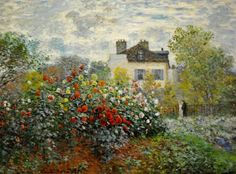 """The Artist's Garden in Argenteuil (A Corner of the Garden w/ Dahlias)"" -- 1873 -- Claude Monet -- French -- Oil on canvas -- National Gallery of Art, Washington, DC."
