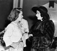 Bette Davis and Hedy Lamarr
