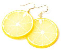 【食品サンプル】カットレモンのピアス【アクセサリー】