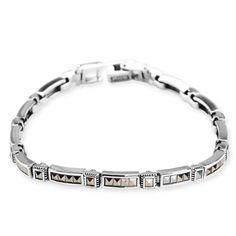 Srebrna bransoletka zdobiona markazytami - Biżuteria srebrna dla każdego tania w sklepie internetowym Silvea