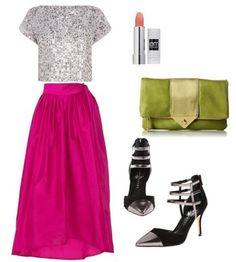stylish yet modest outfit - pink full long skirt