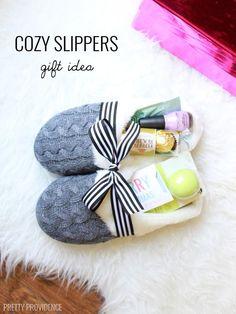 Teacher Gift Idea: Slipper Gift Idea