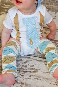 NEW  Easter Tie Onesie with Suspenders  Easter