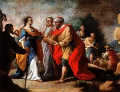 Cat‡logo de pinturas: Rebeca y Eliezer (Hacia 1767-1768)