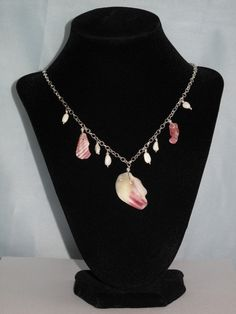 Shell & Coral Elegant Silver Necklace