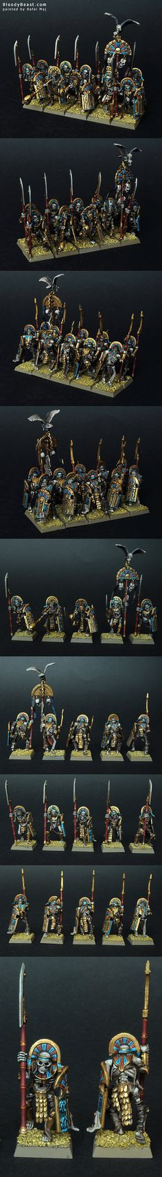 Tomb Kings Tomb Guards with Halberds and Shields