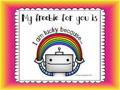 I'm lucky because FREEBIE $0 ~Pinned by www.FernSmithsClassroomIdeas.com