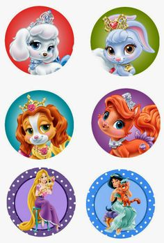 "Disney Palace pets 1"" inch free digital bottle cap images"