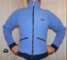 ea66f6fe7fb5 vintage 80 s THE NORTH FACE fleece jacket blue label made in USA mens small   TheNorthFace  FleeceJacket