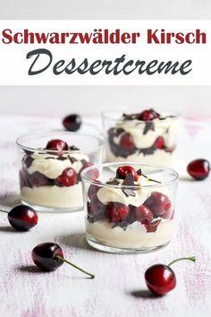 Leckeres Dessert à la Schwarzwälder Kirsch - mit einer Vanille-Sahne-Quark-Creme, Kirschwasser, Kirschen und Schokoraspeln. Nom nom! :-)