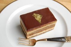 Happy Bastille Day! What better way to celebrate French culture than with chocolate? ;-) Meet the Opera Cake: Layers of almond sponge cake soaked in coffee syrup with buttercream and ganache.