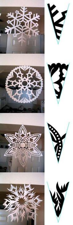 Sněhové vločky, které nikdy neroztají – Let´s Create Paper Snowflake Template, Paper Snowflake Patterns, Paper Snowflakes, Diy Paper, Paper Crafts, Christmas Fun, Christmas Decorations, Diy And Crafts, Arts And Crafts
