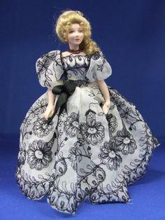 Miniature doll by Loretta Kasza
