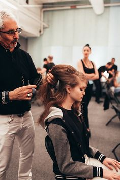 Backstage Anna Sui for R Co at NYFW
