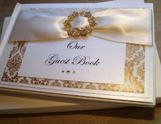 Luxury Gold and Ivory Personalised Wedding by QuillsWeddingFavours www.quillsweddingstationery.co.uk https://www.facebook.com/pages/Quills-Wedding-Stationery/278003989009997
