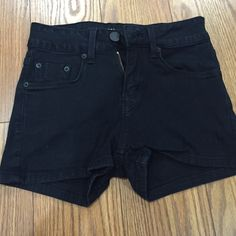 BDG black stretch high waisted shorts Stretch material high waisted shorts. Black with fading. Size 0 Urban Outfitters Shorts