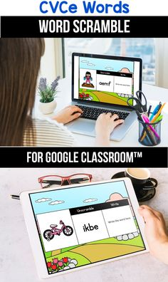 Looking for ideas for the google classroom for your kindergarten, first grade or special education kids? These activities are perfect for teachers to use in the classroom or for parents to use for homeschool. These CVCe word activities and games for beginners replace old and outdated worksheets. You can use them while distance learning to make learning CVCe words with pictures,  long a, i, o and u easier. #googleclassroom #wordscramble #digitallearning #distancelearning 1st Grade Activities, Classroom Activities, Classroom Procedures, Classroom Quotes, Classroom Organization, Learning Resources, Teacher Resources, Teaching Ideas, Cvce Words