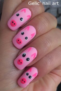 67 Best Nails Animals Pigs Images In 2016 Pig Nails Pig Nail Art