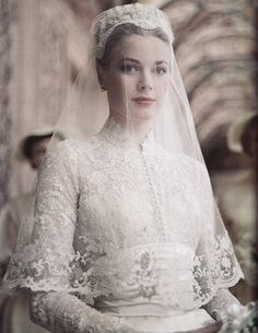 Who could ever match the beauty of Grace on her wedding day?