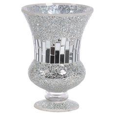 Mosaic glass vase.   Product: VaseConstruction Material: GlassColor: SilverDimensions...