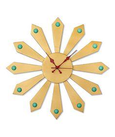 Look what I found on #zulily! Wheel Mod Wall Clock #zulilyfinds