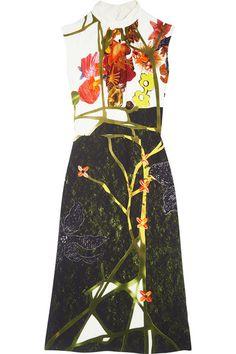 Prada   Printed crepe midi dress   NET-A-PORTER.COM