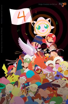 Super Smash Bros Poster by ~MiniMonsterMill on deviantART